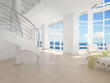 canvas print picture - Modern Luxury Beach Loft / Apartment with Sea View