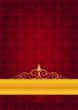 Kırmızı motifli kutlama kağıdı