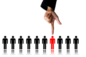 hand choice person