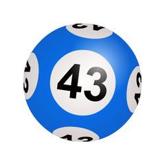 Tirage loto, boule numéro 43