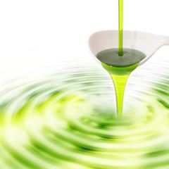 Sirup dunkelgrün für Cocktails oder Bubble Tea