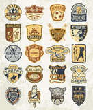 Classic sports old badges