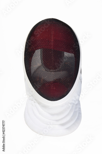 fencers mask on a white background