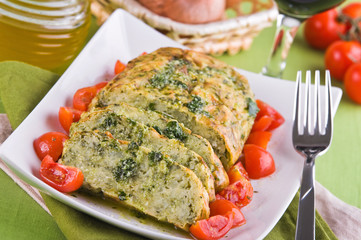 Vegetable meatloaf.