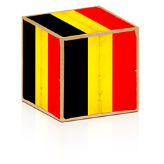 old box belgium flag on it