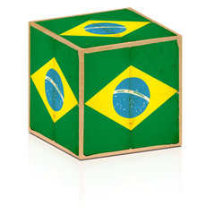 old box brazil flag on it