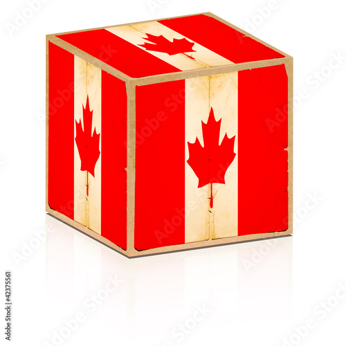 old box canada flag on it