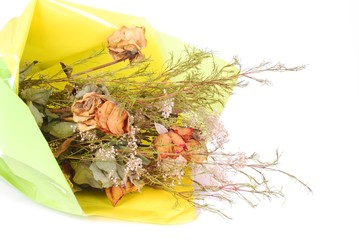 Bouquet of flowers withered
