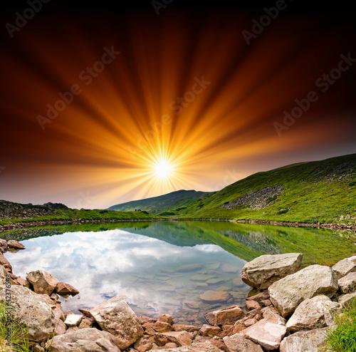 mountain lake - 42376548