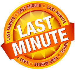 "Button Banner ""Last Minute"" Yellow/Orange"