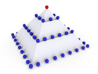 Pyramid with many spheres