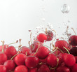 Cherries underwater a