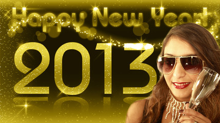 Happy New Year 2013 - Diva Gold