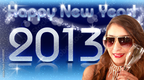 Happy New Year 2013 - Diva Blau