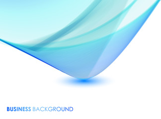 Abstract vector blue business background