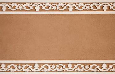 Clay Background with White Flower Frame
