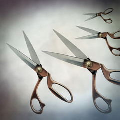 scissor cutting image