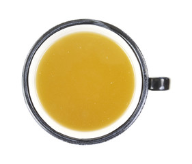 Chicken Broth Overhead View
