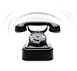 Schwarzes Klingelndes Telefon