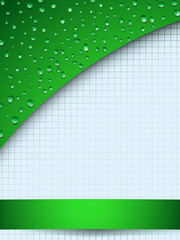 Green abstract wet background  - eps8