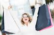 Detaily fotografie Woman enjoying summer sales