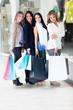 Female friends shopping