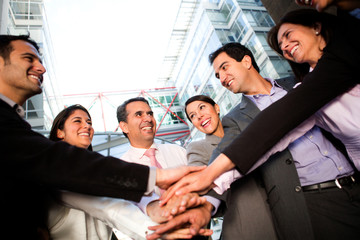 Business team bonding