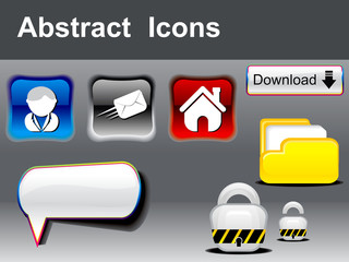 abstract glossy multipale icons