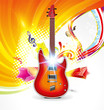 abstract musical background with raise