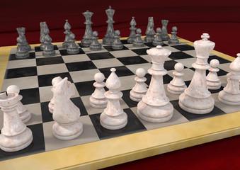 Schachspiel aus Marmor