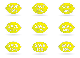 lemon simple save set percent