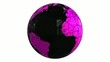 world globe black and pink