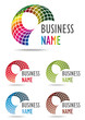 Business logo rainbow design