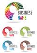 Business logo rainbow design