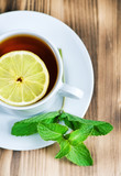 Tea with mint and lemon