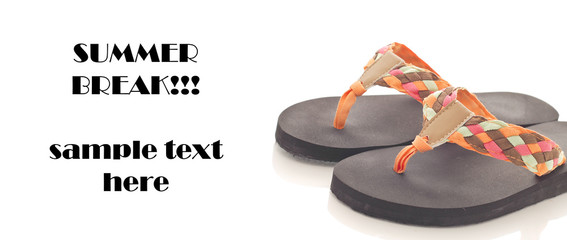 Sandals with space for Text
