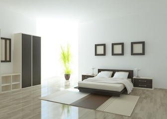 white bedroom interior