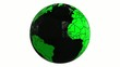 world globe black and green