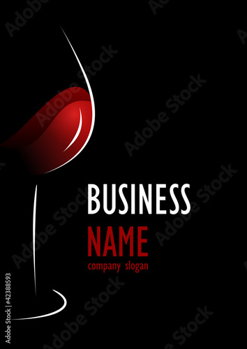 Business logo wine glass design