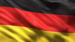 Seamless German Flag waving in the wind