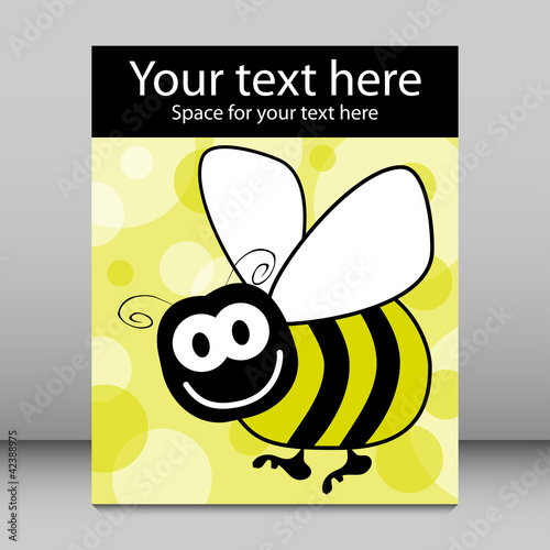 Fun bumble bee vector design.