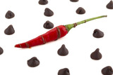 chilly pepper with chocolate kisses