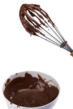 chocolate and metal whisk