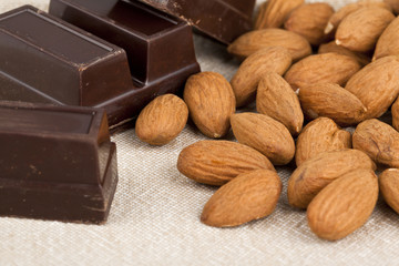 chocolate and almonds