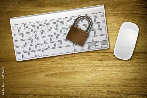 keyboard with lock