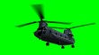 CH-47 Helicopter  on green