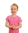 Smiling little girl portrait isolated on white background