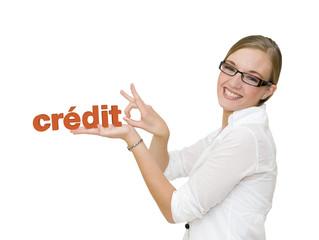 Femme qui n'a plus de crédit