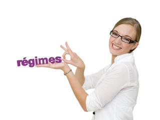 Femme qui arrête les régimes