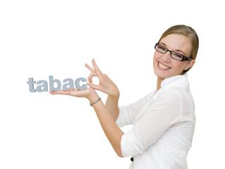 Femme qui arrête de fumer